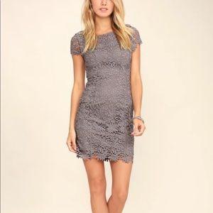 Lulu's Hidden Talent Backless Lace Dress